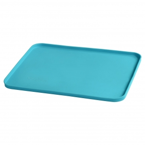 platemat made from silicone - aqua