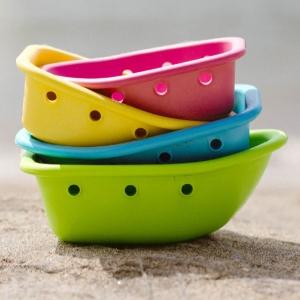 sprout ware® schwimmende boote aus pflanzen - mehrfarbig